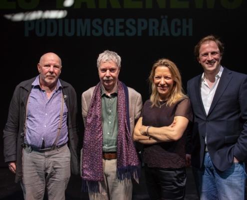 Frank Raddatz, Hans-Jörg Rheinberger, Antje Boetius und Moderator Andreas Kosmider (von links nach rechts). Bild: Moritz Haase